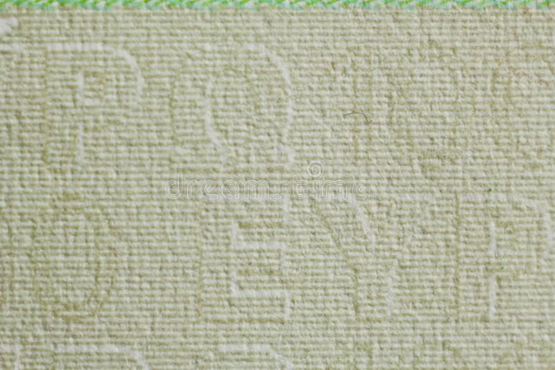 Protective watermark on a hundred euro bill in macro. protection against counterfeiting of banknotes. hologram. detail of paper. Money close up royalty free stock photos