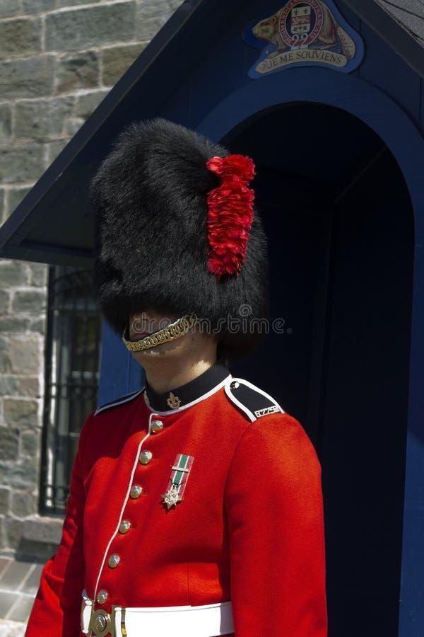 protector 22's en el Citadelle en Quebec City foto de archivo