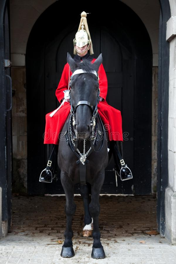 Protector real de Londres en caballo imagen de archivo