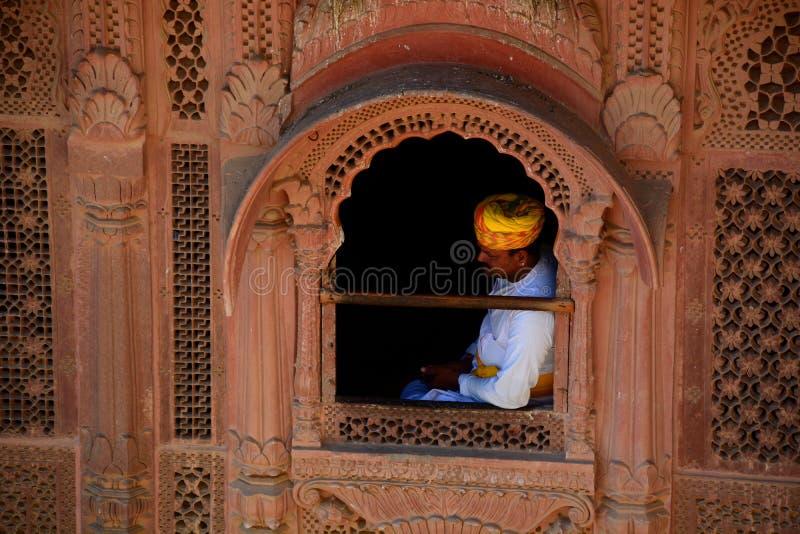 Protector real Fortaleza de Mehrangarh Jodhpur Rajasthán La India imagen de archivo libre de regalías