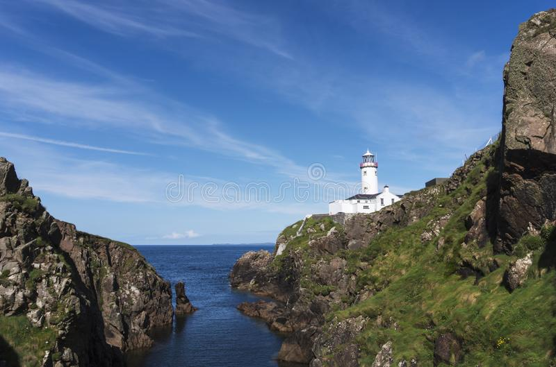 Protector of the sea. Fanad Head Lighthouse has been voted one of the most beautiful lighthouses in the world royalty free stock photo