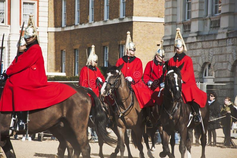 Protectores de caballo de la reina foto de archivo libre de regalías