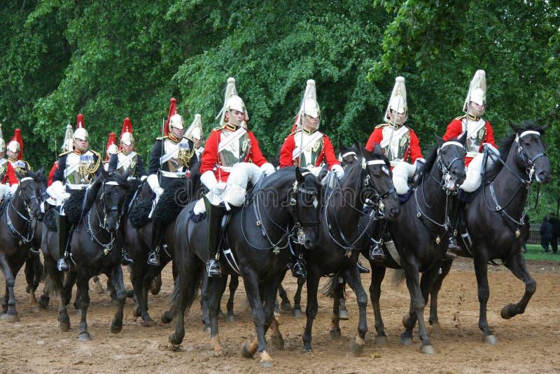 Protectores de caballo reales en Londres fotografía de archivo