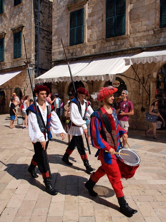 Protectores de Dubrovnik imagenes de archivo