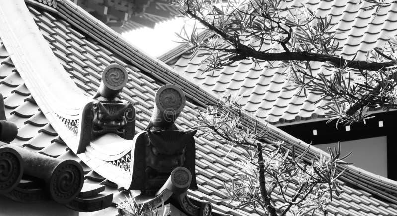 Protectores en el tejado imagen de archivo libre de regalías