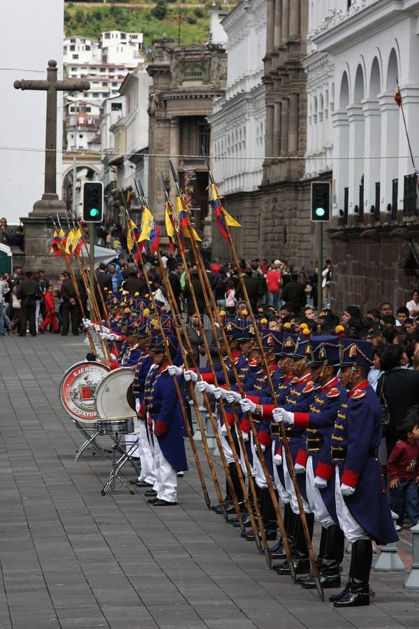 Protectores en Quito fotografía de archivo