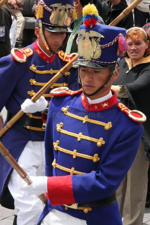 Protectores en Quito imagen de archivo