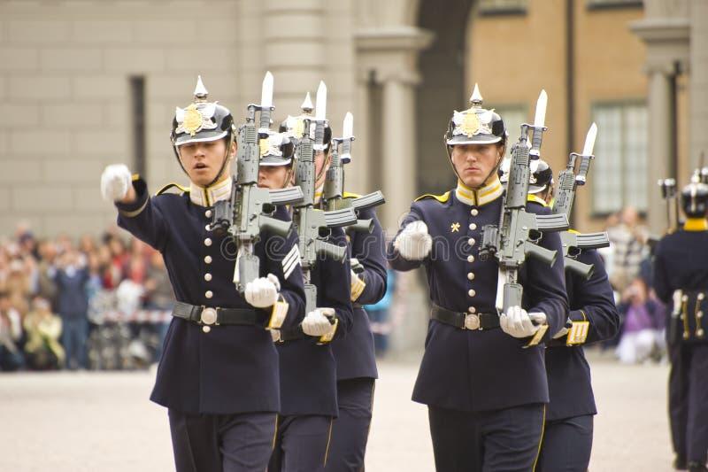 Protectores reales de Suecia imagenes de archivo