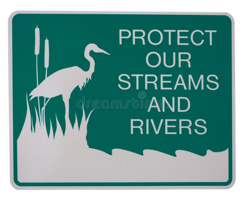 Protegga i nostri flussi e fiumi royalty illustrazione gratis