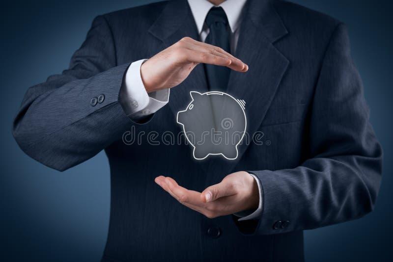 Protegga il risparmio finanziario fotografia stock libera da diritti
