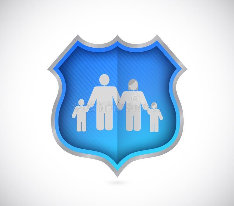 protegga la famiglia e la casa proteggenti, concetto di assicurazione royalty illustrazione gratis