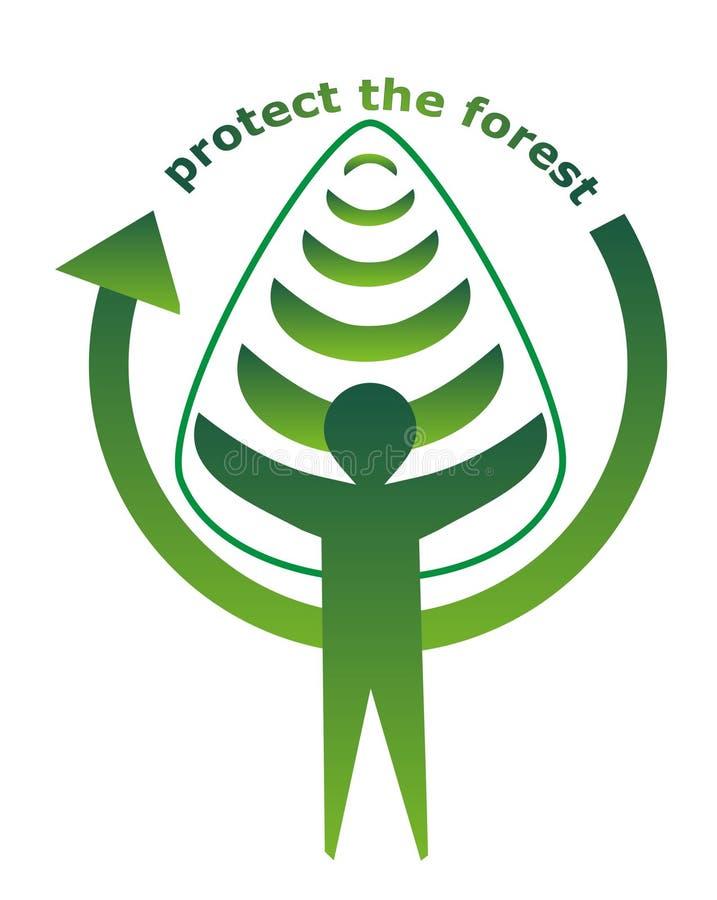 Protegga la foresta illustrazione vettoriale