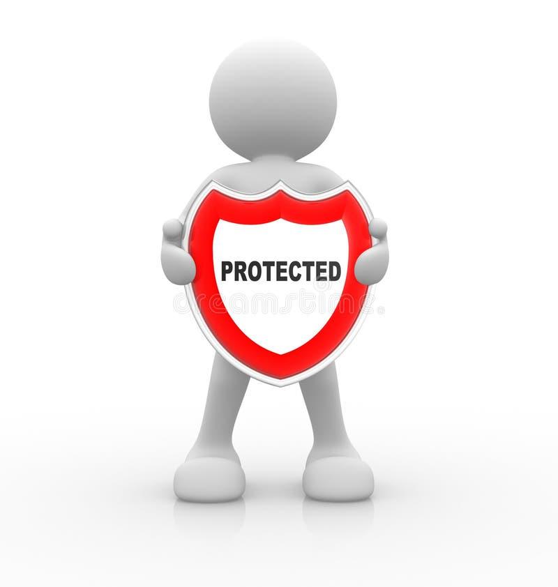 protegido stock de ilustración