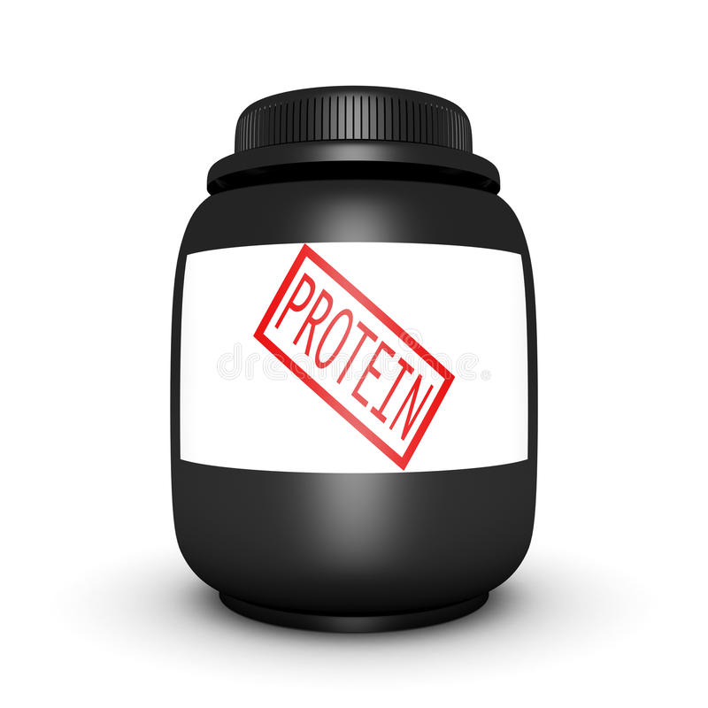Protein Sports Nutrition Can On White Background Royalty Free Stock Image