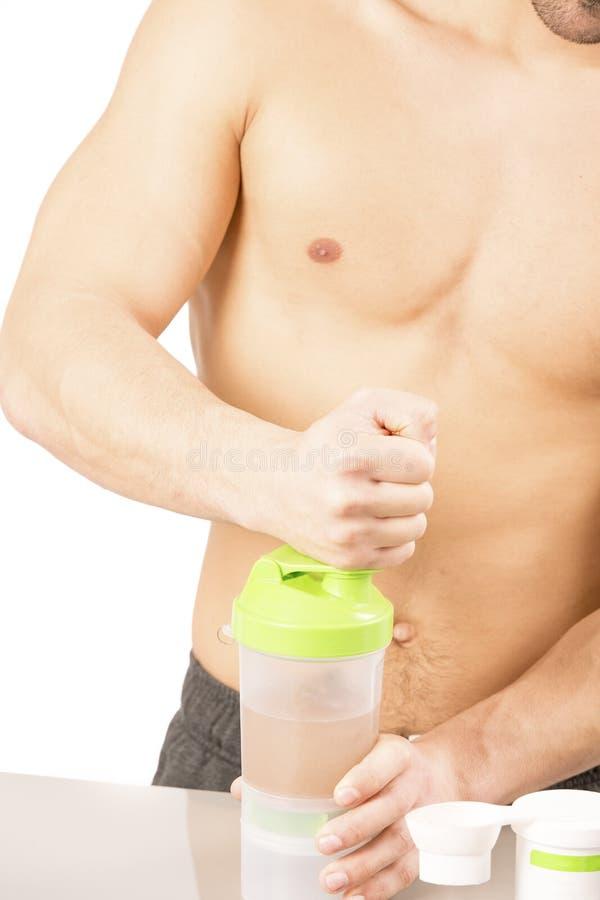 Proteinowej potrząśnięcie sporta sprawności fizycznej zdrowy styl życia fotografia stock