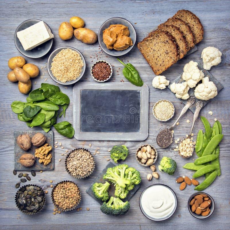 Proteinquellen des strengen Vegetariers lizenzfreie stockfotografie