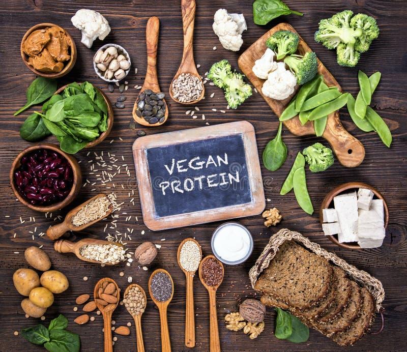 Proteinquellen des strengen Vegetariers stockbilder