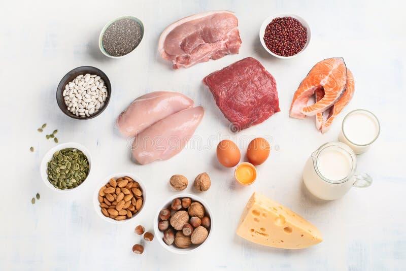 Proteinreiche Nahrungsmittel lizenzfreies stockbild