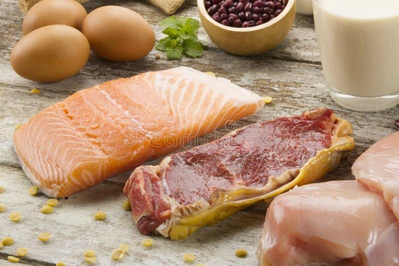 Proteinreiche Nahrungsmittel lizenzfreie stockfotos