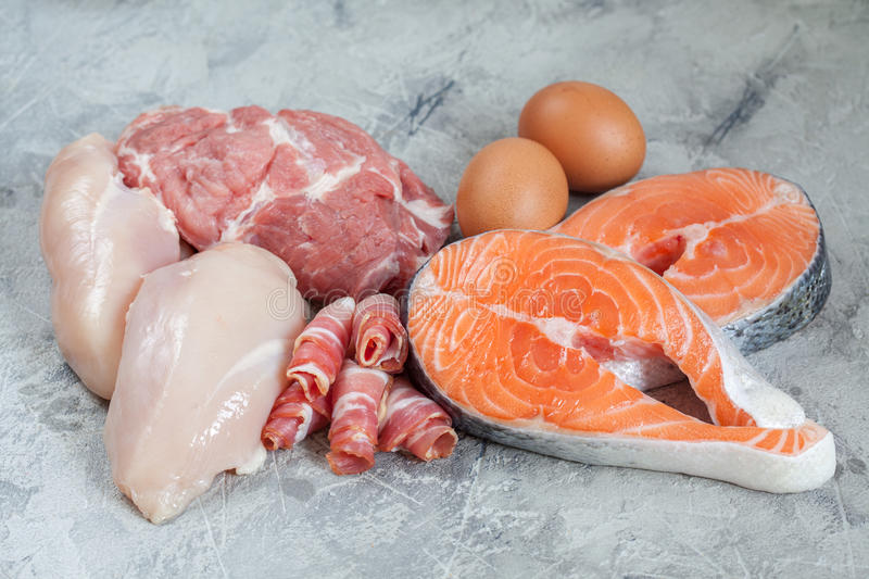 Proteins and fats royalty free stock photography
