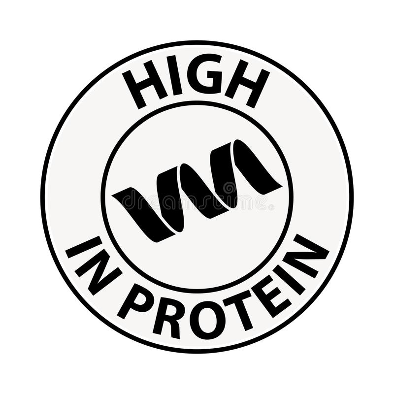 Proteinsymbol, illustration vektor illustrationer