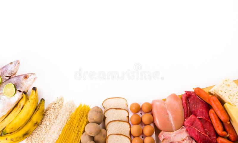 Proteiny i węglowodany zdjęcie stock