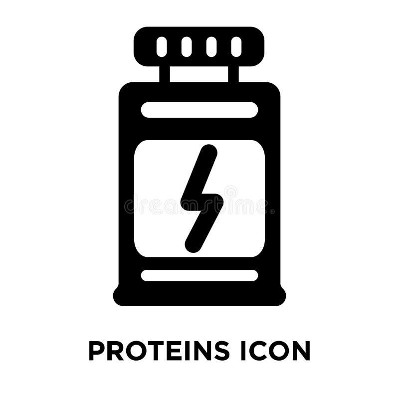 Proteiny ikony wektor odizolowywający na białym tle, loga pojęcie royalty ilustracja