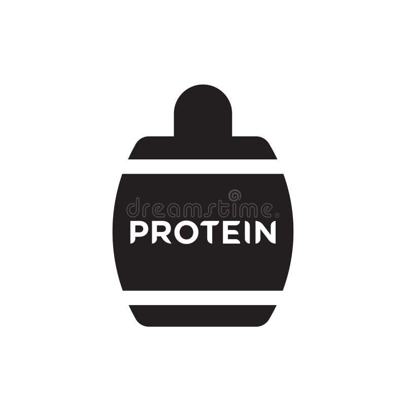 Proteiny ikony wektoru znak i symbol odizolowywający na białym tle ilustracji