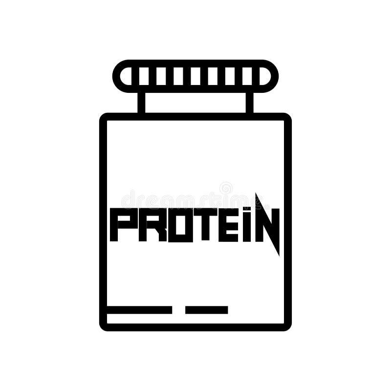 Proteiny ikony wektoru znak i symbol odizolowywający na białym tle, proteina logo pojęcie ilustracja wektor