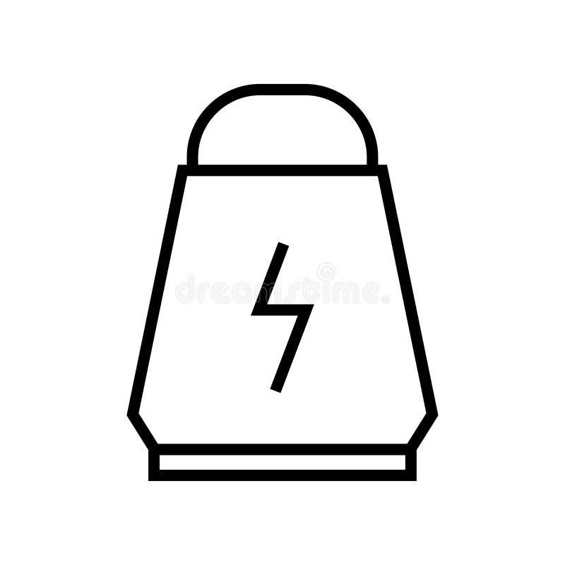 Proteiny ikony wektoru znak i symbol odizolowywający na białym tle, proteina logo pojęcie royalty ilustracja