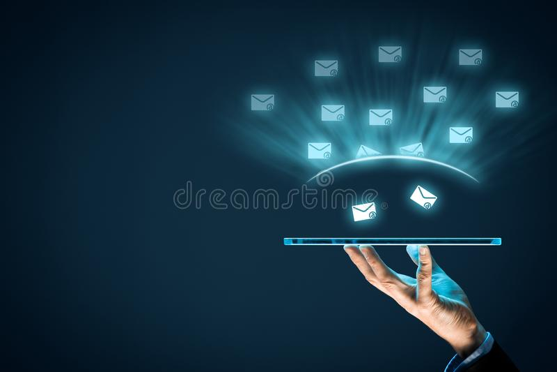 Proteja contra o Spam fotos de stock royalty free