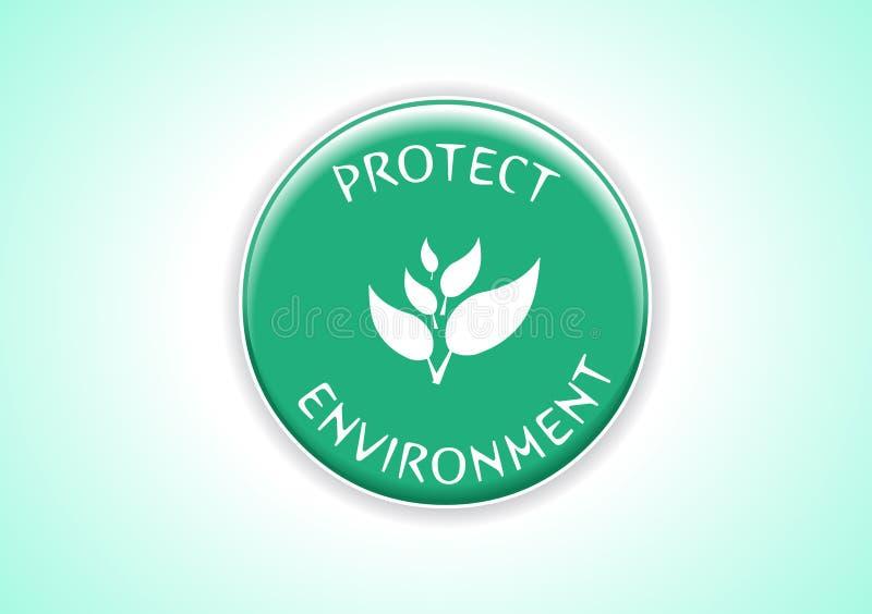 Proteja el ambiente stock de ilustración