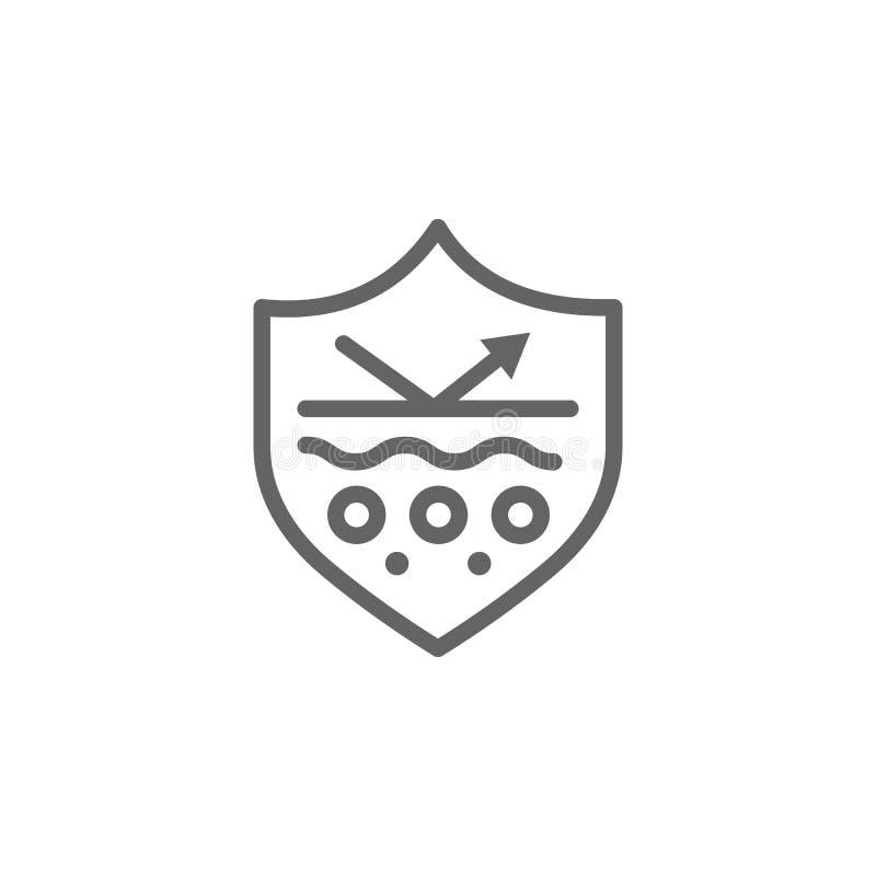 Proteja, icono de la piel Elemento del icono del cuidado de piel L?nea fina icono para el dise?o y el desarrollo, desarrollo del  libre illustration