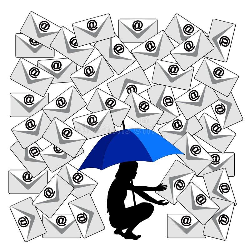 Proteja a los niños contra Spam libre illustration