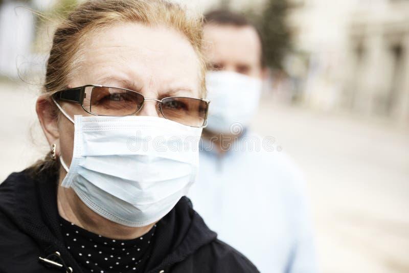 Proteja-se (a proteção da gripe) fotografia de stock royalty free