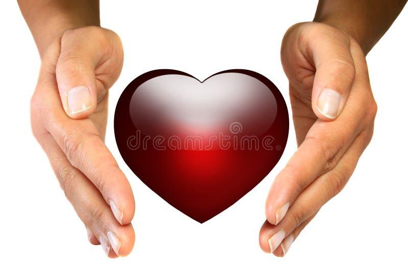 Proteja seu coração imagem de stock