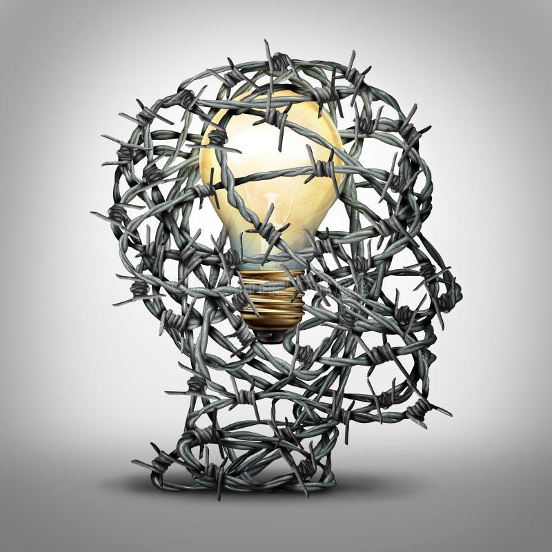 proteja su idea stock de ilustración