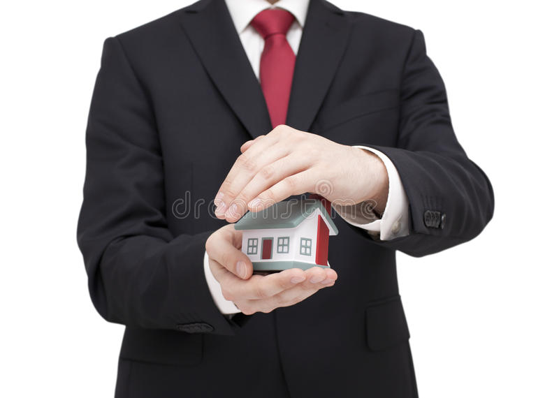 Proteja sua casa foto de stock