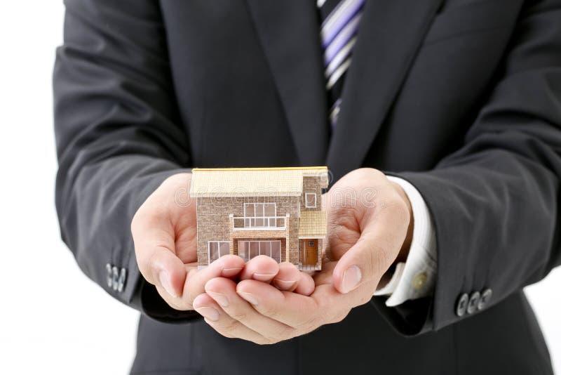 Proteja a sua casa, bens imobiliários, imagem de stock royalty free