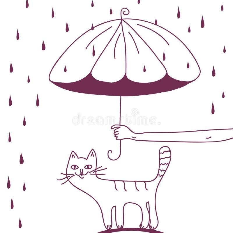 Proteja sus animales domésticos stock de ilustración
