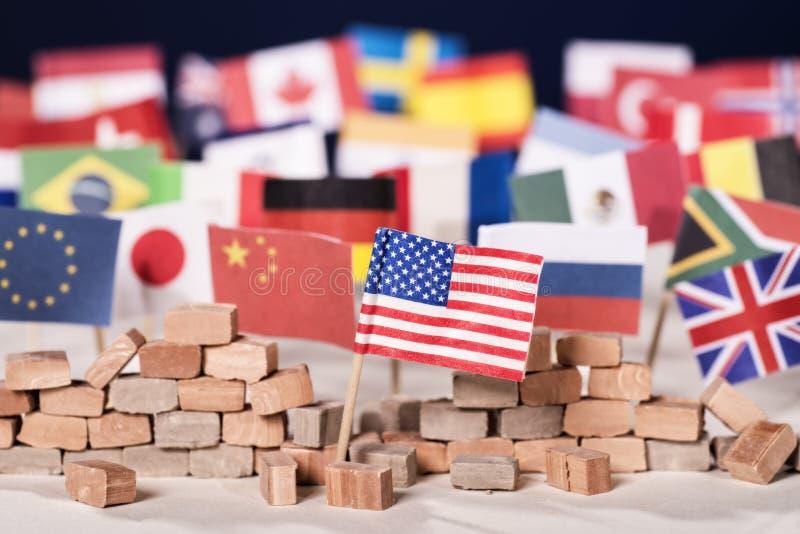 Protektionismus der USA stockbild