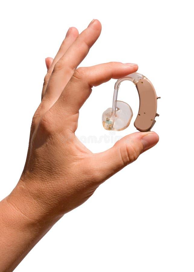 Protesi acustica di Digitahi fotografia stock libera da diritti