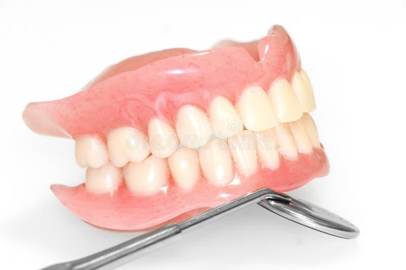 Protesi dentarie acriliche immagini stock