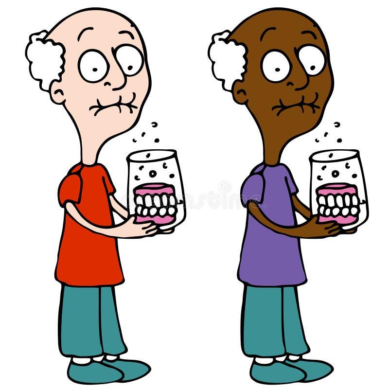 Protesi dentarie di pulizia illustrazione di stock