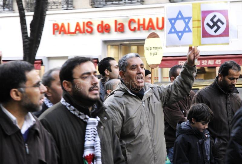 Protestów dla Izrael palestyńscy ludzie obraz stock