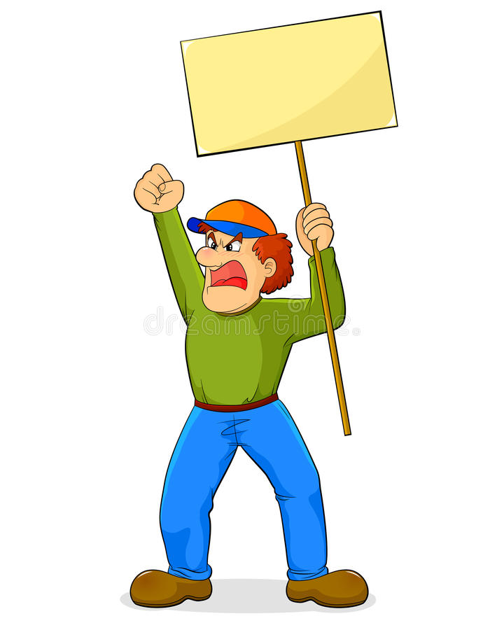 Download Protest stock vector. Image of expression, clip, outside - 22971427