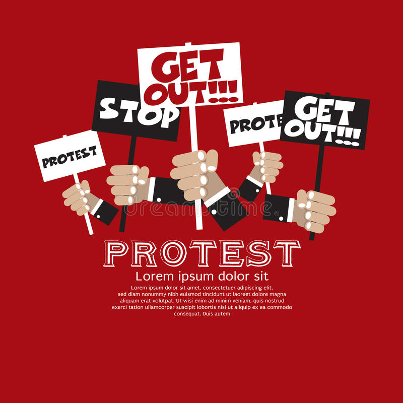 Protest. stock illustrationer