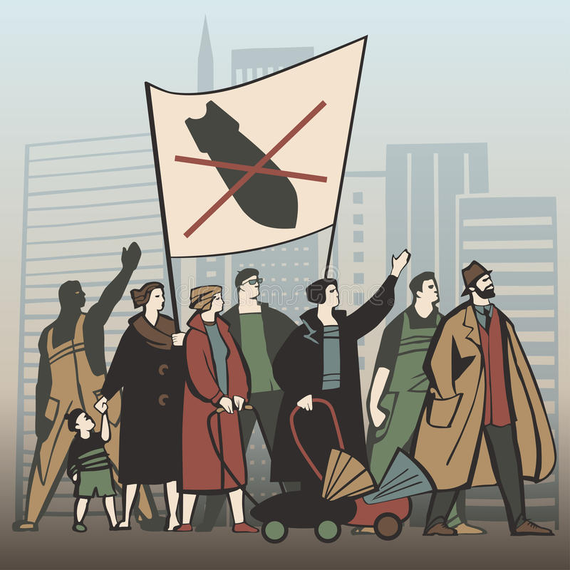 Protest2 stock illustrationer