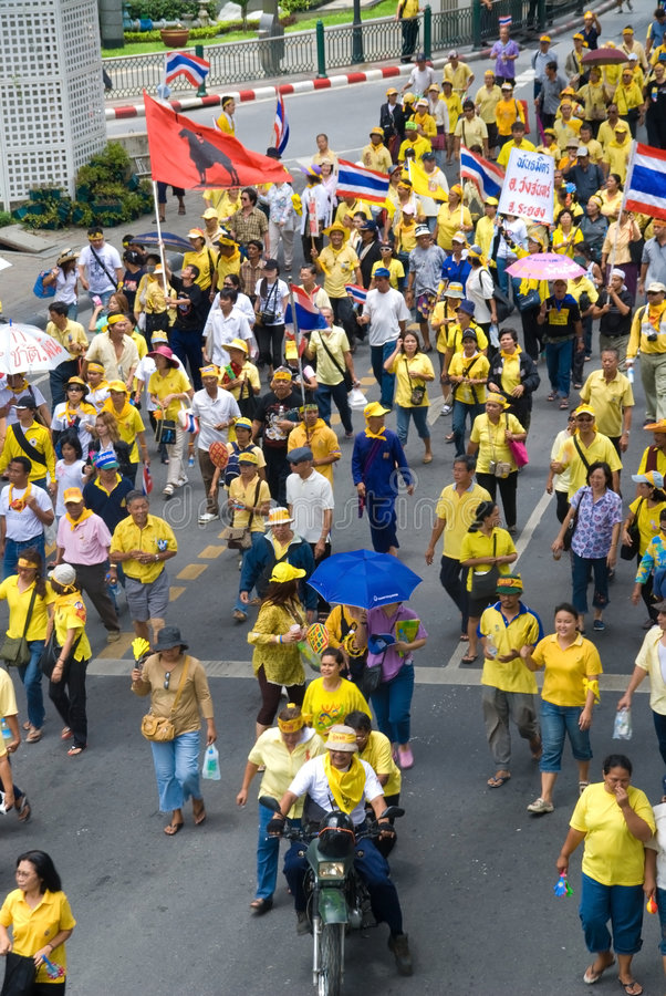 Download Protest editorial photography. Image of siam, yellow, protest - 5682132
