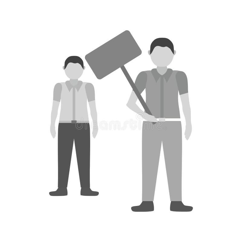 protest royaltyfri illustrationer